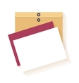 Flat design envelope and card vector image vector image