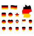 germany flag icons set german flag symbol vector image