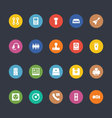 Glyphs Colored Icons 10 vector image