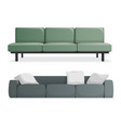 gray and green modern sofa vector image vector image