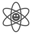 happy atom flat icon vector image