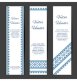 Header or banner design templates vector image vector image