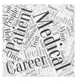 Health and Medical Careers Word Cloud Concept vector image vector image