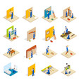 home repair isometric set vector image vector image