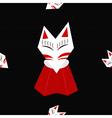Inari Fox Black Background vector image