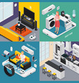 iot isometric concept vector image vector image