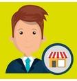 man store market icon vector image vector image