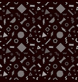 memphis style seamless pattern on black vector image