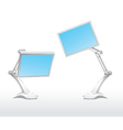 monitor blue vector image vector image