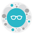 Of science symbol on glasses vector image