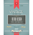 old style vintage menu day background vector image vector image