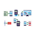 online banking payment methods collection money vector image vector image