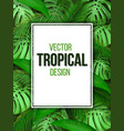 paper sheet on the background of tropical leaves vector image vector image