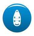 plastic bobber icon blue vector image
