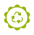 plastic recycling circle symbol on white vector image vector image