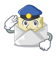police opened and closed envelopes shaped cartoon vector image