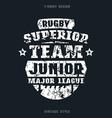 Rugby junior team emblem vector image