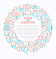 science and laboratory concept in circle vector image vector image