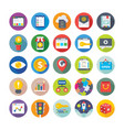 seo and digital marketing icons 8 vector image vector image