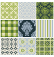 set nine colorful seamless patterns vector image vector image