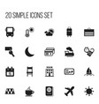 set of 20 editable journey icons includes symbols vector image vector image