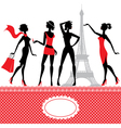 Set of silhouettes of fashionable girls vector | Price: 1 Credit (USD $1)
