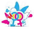 sexual symbol concept design vector image