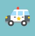 simple patrol car vector image vector image
