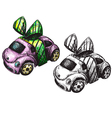 sketch of a toy car vector image vector image