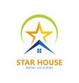 star house realty logo vector image