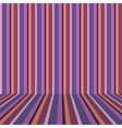 Striped wallpaper on the wall vector image