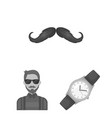 style hipster monochrome icons in set collection vector image vector image