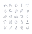 summer thin line icons set vector image