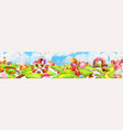 sweet land panorama landscape background vector image vector image