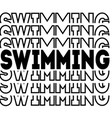 swimming isolated on white background vector image vector image