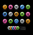 system icons interface - gelcolor series vector image vector image