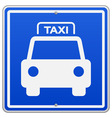 Taxi Blue Sign vector image vector image