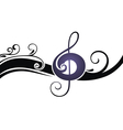 the symbols of music on a white ba vector image vector image
