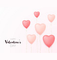 valentine day banner poster vector image vector image