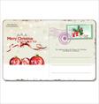 Vintage Christmas Postcard vector image vector image