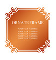vintage decorative label elegant ornamental frame vector image