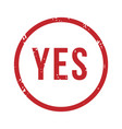 yes rubber stamp isolated admission and vector image vector image