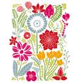 Floral Background Natura Summer Design vector image