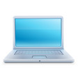 Laptop icon with blue empty vector image