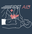 concept of the first aid vector image