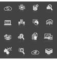 Database analytics icons black and white vector image