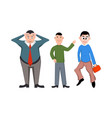 set happy businessman vector image