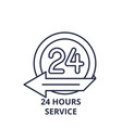 24 hours service line icon concept 24 hours vector image vector image