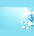 abstract blue 3d triangles background vector image vector image