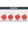 Apple Funny cartoon fruits Organic food vector image vector image